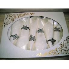 Set stolnjak i salvete + prstenovi (12 osoba)